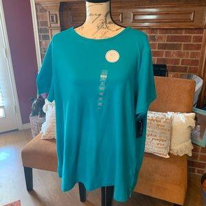 Plus size t shirt blue NWT Kim Rogers